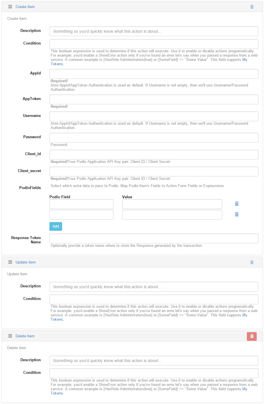 DNN Podio Integration