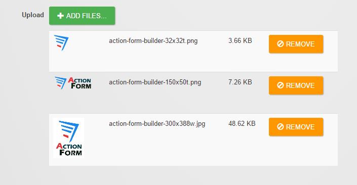 Multiple File Upload in Action Form