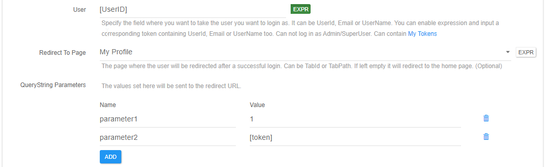 Autologin redirect to page