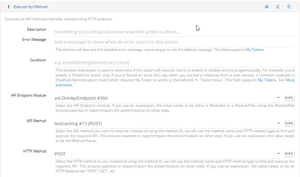 Execute API Method