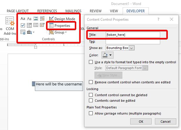 Edit Content Control