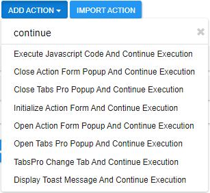 Flushable Actions