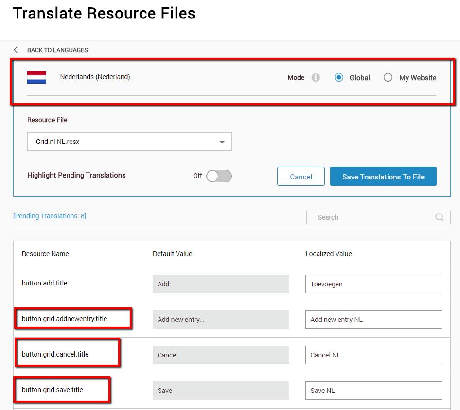 Localization | DNN Sharp Documentation Center